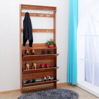 超薄翻斗鞋柜17cm挂衣架鞋柜一体组合简约现代门厅柜大容量客厅柜 组装