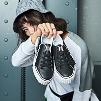 361°女秋季硫化鞋时尚白搭休闲鞋女鞋