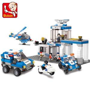 【当当自营】小鲁班城市特警系列儿童益智拼装积木玩具 特警指挥中心M38-B0192