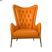 北欧单人沙发椅客厅休闲沙发轻奢单人椅设计师老虎椅高靠背椅子