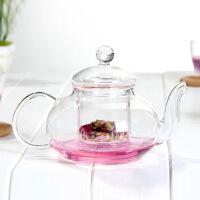 HEISOU 耐热玻璃茶具带过滤玻璃泡花茶壶花草茶壶耐高温