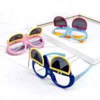 户外儿童太阳镜男童墨镜潮款宝宝翻盖眼镜韩版女童小孩偏光