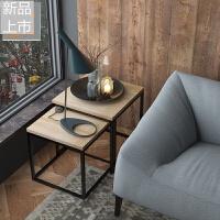 茶几简约北欧铁艺实木边几角几新品套装loft正方形精美小茶几组合定制