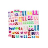 洋芭芘娃娃公主家水晶鞋高跟鞋子过家家女孩玩具通用配套