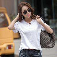 【新品抢鲜】Coolmuch女短T夏季简约纯色百搭透气竹节棉圆领短袖T恤衫ZR9838