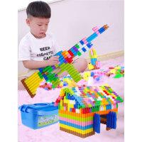 儿童益智塑料子弹头积木4-6岁幼儿宝宝拼插拼装男孩玩具1-2-3周岁