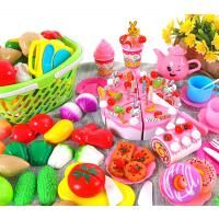 可切水果�和�玩具女孩蔬菜切切�诽籽b�����N房套�b�^家家切切女童