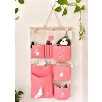 收纳袋 多层棉麻布艺柜储物袋收纳袋 防水墙挂悬挂式置物袋收纳挂袋
