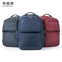【1件5折】卡拉羊新款双肩包背包小学生背包电脑包青少年休闲旅行背包CX5007
