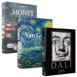 【现货正版包邮】英文原版 Dali 达利、Monet 莫奈、Van Gogh 梵高 油画艺术作品画册画集 3本合集套装  TASCHEN出版