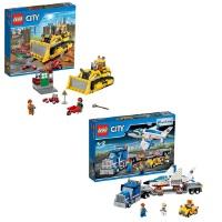 [当当自营]LEGO 乐高 CITY城市系列 工程推土机60074 + 航天训练机运输车 60079