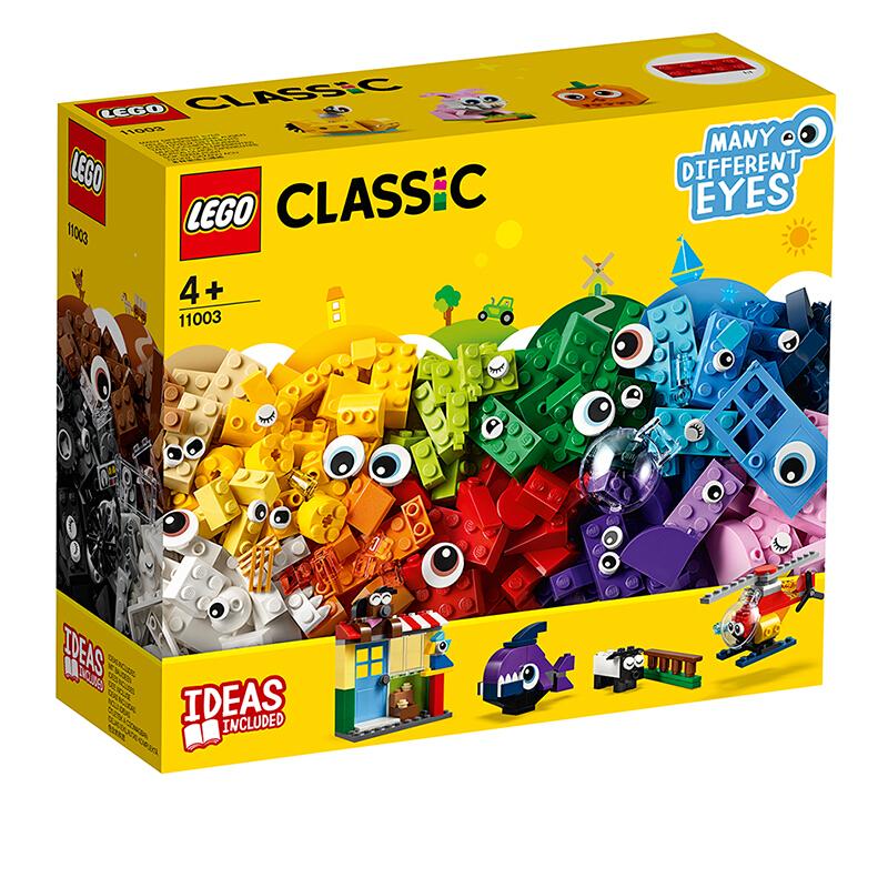 【当当自营】LEGO乐高积木经典创意Classic系列11003  4岁+大眼睛创意套装 全新大眼睛创意,可拼搭出各种萌宠!