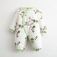 婴儿连体衣服宝宝新生儿哈衣01岁3月棉衣加厚睡衣冬装冬季