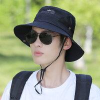 旅游登山户外盆帽沙滩骑车太阳网帽男士帽子透气渔夫帽遮阳帽