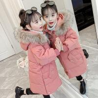 女童棉衣长款2020新品冬装中大儿童面包服加厚女孩羽绒胖