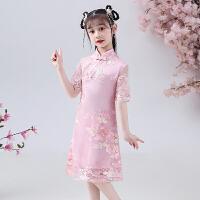 小女孩改良旗袍夏季中式复古短袖唐装裙女童宝宝