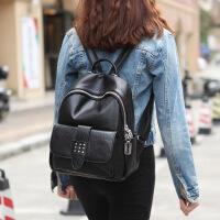 玛罗士 新款包包女包2017欧美时尚双肩包牛皮大容量旅行背包个性女包004-1012a