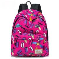 韩版潮休闲背包旅行背包女 新款印花双肩包女书包男 字母双肩小背包