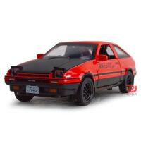 建元散装头文字D合金车模1:28丰田AE86汽车模型玩具带声光回力