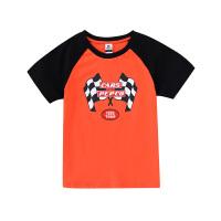 【2件5.5折到手价:54】小猪班纳童装男童短袖t恤纯棉2020夏季新款中大童圆领休闲上衣