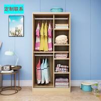 衣柜推拉门简约现代经济型板式柜子实木质组装卧室移门衣橱 2门