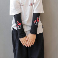 户外儿童冰爽套袖时尚薄款男童女童透气防晒伤冰丝手套护手臂宝宝袖套