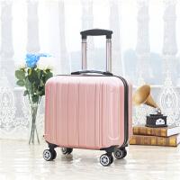 18寸子母箱万向轮小登机箱女行李箱男拉杆箱学生旅行箱包 玫瑰金 【单箱】