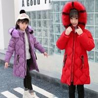 女童棉衣外套韩版冬儿童中长款宝宝洋气冬装棉袄