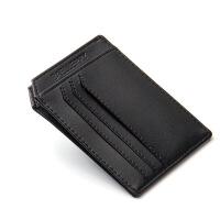 卡包男士迷你小钱包驾驶证皮套公交银行卡套证件卡夹卡片包潮 黑色