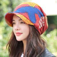 鸭舌帽女韩版时尚学生包头帽逛街休闲百搭针织帽保暖潮人帽子