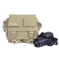 摄影包时尚单反相机包男女通用微单单肩背包 卡其色