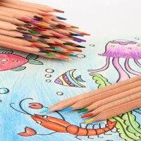 众叶水溶性彩铅油性彩色铅笔专业素描手绘笔24色36色48色72色绘画套装12色18色学生儿童初学素描画笔批发