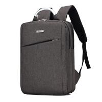办公商务双肩包男士背包15.6寸学生电脑包手提多功能出差旅行背包 深咖色