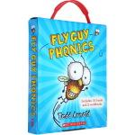 Fly Guy 苍蝇小子12册 英文原版分级读物3 6岁 Phonics 自然拼读盒装 tedd Arnold 儿童阅