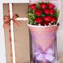 鲜花速递11红玫瑰礼盒送女友送闺蜜送情人全国同城鲜花速递节日生日鲜花速递