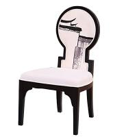 新中式酒店实木餐椅大厅门厅简约形象椅单人靠背椅官帽椅 餐椅2 运费到付