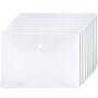 广博10只装A4透明文件袋按扣档案袋资料袋 A6320KA