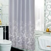 浴室浴帘套装防水加厚防霉窗帘布隔断卫生间淋浴挂帘子免打孔