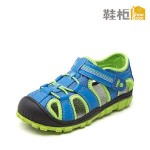 SHOEBOX/鞋柜 夏季新款时尚帅气男童鞋 透气网面魔术贴男童凉鞋