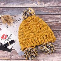 潮百搭韩版毛线帽时尚保暖护耳加厚甜美可爱针织帽帽子女