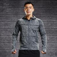 跑步上衣男运动长袖宽松速干外套加绒加厚防风健身服装