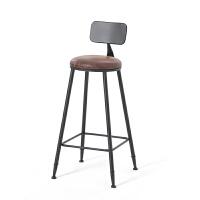 高脚椅子酒吧吧台凳家用铁艺咖啡厅奶茶店休闲实木桌椅组合定做