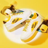 【超品预估价:78】361度小黄人联名板鞋女2020年春季新款时尚舒适板鞋耐磨运动鞋