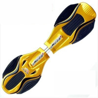 滑板车 二轮 铝合金滑板车活力板游龙蛇板二两轮摇摆儿童滑板青少年初学者 CX +两个备用轮