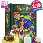 正版现货 奇幻森林立体书 英文原版 The Jungle Book pop-up 迪士尼经典童话故事