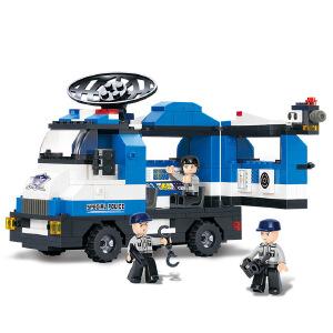【当当自营】小鲁班城市特警系列儿童益智拼装积木玩具 通讯指挥车M38-B0187
