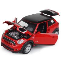 嘉业宝马迷你MINI JCW PACEMAN声光开门回力合金车模型儿童玩具车