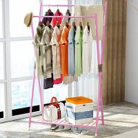索尔诺晾衣架 落地折叠防锈双杆式室内晾晒架阳台 多功能晒被子架