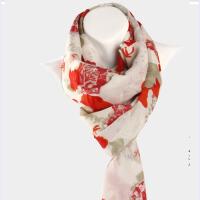 润帛 2015欧美女士羊毛气质围巾玫瑰骷髅头印花围巾披肩