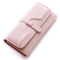 女士钱包女长款复古三折大容量多卡位简约女式原宿个性学生皮夹子